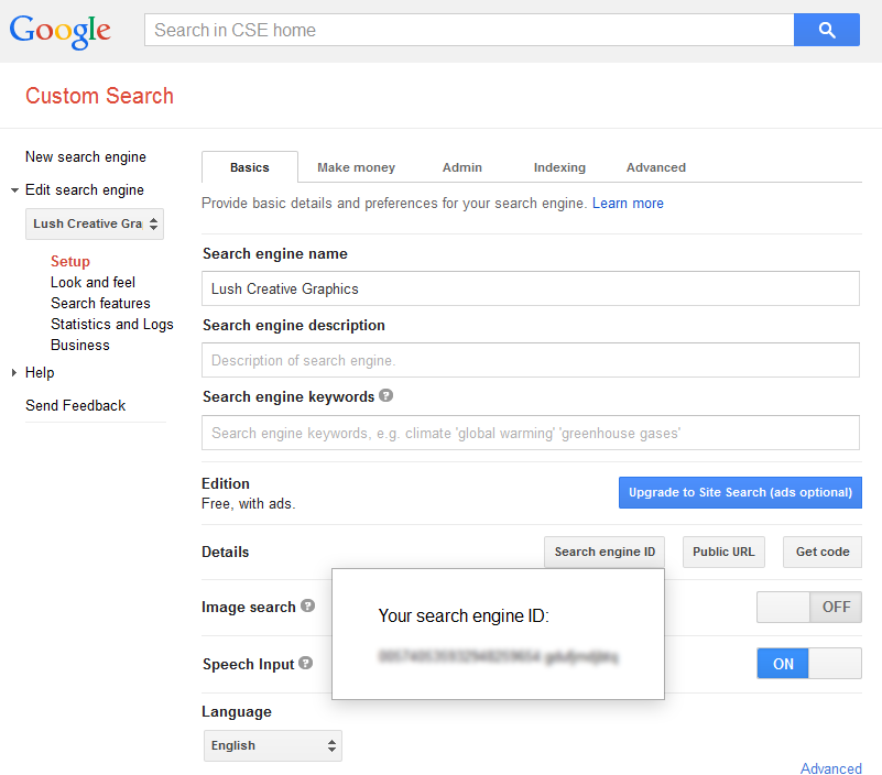 Search Engine ID